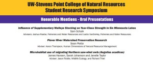 2016 Student Research Symposium